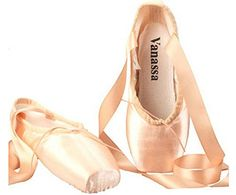 60b745ba7803 WENDYWU womens Dance Shoe Pink Satin Ballet Pointe Shoes 45 -- You can find  out