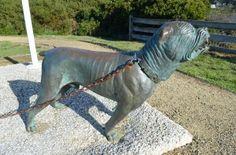 The dog line memorial at Eaglehawkneck on the Tasman Peninsula, Tasmania http://blog.moretas4less.com/tessellated-pavement-at-eaglehawkneck-on-the-tasman-peninsula-tasmania/