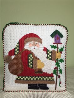 The beard caught my eye on this Cindy canvas. Brenda Hart gave me some stitches; some are my own.