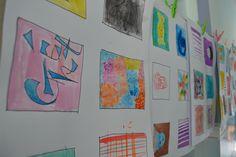 Water color class-Rock-Paper-Scissors student's artwork