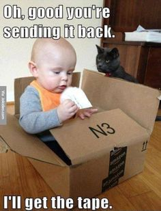 Oh, good you're sending it back. #catoftheday