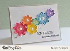 Love the watercolor effect on these flower die cuts!!