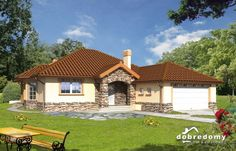 Idylla III - Dobre Domy Flak & Abramowicz Home Fashion, Gazebo, Outdoor Structures, Cabin, Interior Design, House Styles, Houses, Home Decor, Facades