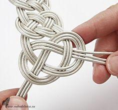 Кельтский узел плетение из шнура