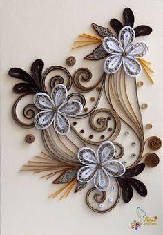 Flores de filigrana de papel