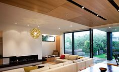 Contemporary New House in Point Chevalier Smith + Scully Scully, New Homes, Ceiling Lights, Contemporary, Architecture, Building, House, Inspiration, Home Decor