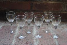 Vintage Glasses/Vintage Barware/Set of 6/Entertaining for the