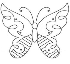 Butterfly Embroidery Patterns  Butterflies are pretty little things, and adapted into the embroidery world, they make nice motifs on anything. Here are a couple free butterfly embroidery patterns for surface embroidery. They can be adapted to be used on anything – from clothing to linens to quilts.  Here are the first two butterfly patterns. Use your imagination!!