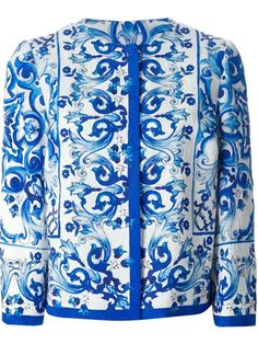 Shop Dolce & Gabbana 'Majolica' print brocade jacket in Tiziana Fausti from the world's best independent boutiques at farfetch.com. Shop 300 boutiques at one address.