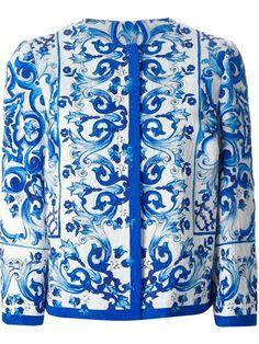 afeb114fcf4c1 Shop Dolce  amp  Gabbana  Majolica  print brocade jacket in Tiziana Fausti  from the