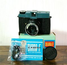 Vintage DianaF 120mm Film Camera with Box by CanemahStudios, $35.00