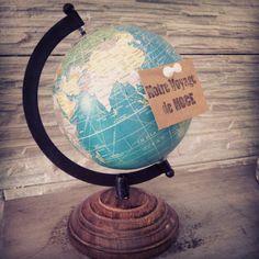globe pour voyage de noces valise vintage urne de par Saveyourdeco