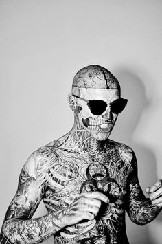 Rick Genest, hot dayum. #tattoos #RickGenest