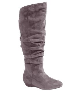 Comfortview Sue Wide Calf Scrunch Boot, $59.99, onestopplus.com MORE: #GetOnMyFeet! 10 Cute Knee-High Boots To Rock Now