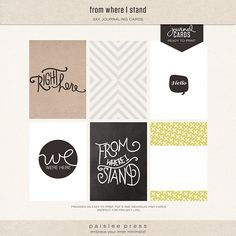 new in the shop: from where I stand by @Liz Mester Tamanaha