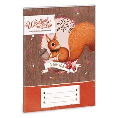 Woodland Magic füzetborító A/5 5 db / cs Fall 14, Red Squirrel, Hello Autumn, Woodland, Teddy Bear, Magic, Cover, Animals, Collection