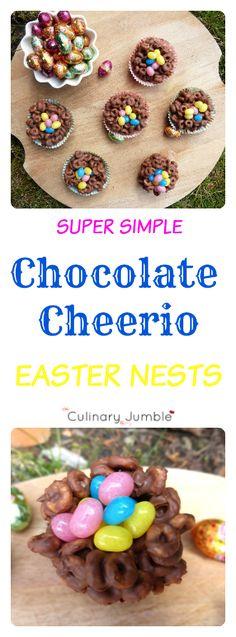 Chocolate Cheerio Easter Nests