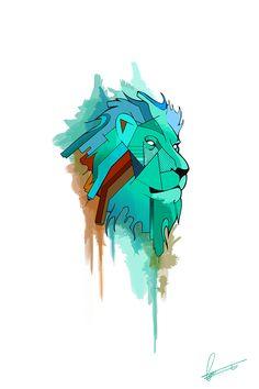 Geometric Lion on Behance
