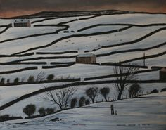 """Drawing Outside in Reeth"" by Peter Brook RBA (1927-2009), Pennine Landscape Painter ...."