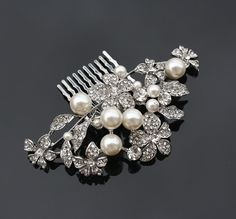 Bridal Hair Comb  Wedding Head Piece  Crystal by PowderBlueBijoux, $59.00