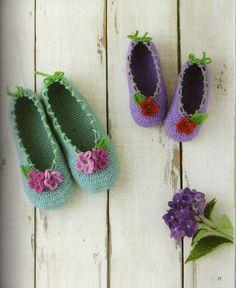 Chaussons au crochet - Le monde-creatif