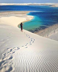 Fabulous dunes of Lençóis Maranhenses National Park, #Brazil Photo by @cbezerraphotos Explore. Share. Inspire: #EarthFocus
