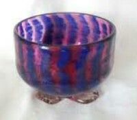 Ambitious Very Large Victorian Czech Ruffle Edged Blue Opaline Cranberry Glass Basket Bowl Bowls Decorative Arts