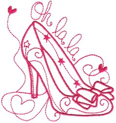 Machine Embroidery design -- could be used for hand embroidery