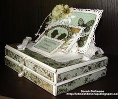 Les Boitatou: Pour un 40 ième anniversaire de mariage Envelopes, Wedding Cards, Decorative Boxes, Scrap, Make A Map, Wedding Anniversary, Cards, Basteln, Wedding Ecards