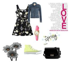"""Spring Look 2"" by fashionloverxxx25 ❤ liked on Polyvore featuring Paige Denim, Kate Spade, women's clothing, women, female, woman, misses and juniors"