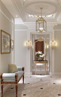 Foyer decorating – Home Decor Decorating Ideas Classic Interior, Luxury Interior, Home Interior Design, Modern Interior, Modern Decor, Foyer Decorating, Interior Decorating, Design Entrée, Home Fashion