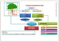 map il verbo - radice e desinenza