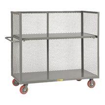 "Bulk Handling Truck w/ Mesh Sides & Shelf adjustable shelf   24: by 48""  $527"