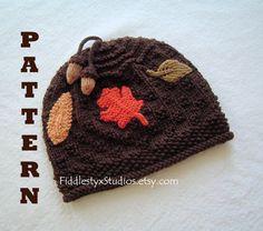 Etsy: Knitting Pattern - Baby Hat Pattern - Boys Brown Autumn Beanie (Newborn, Infant, Toddler, Child sizes) Fall Children Clothing Pattern. $4.99, via Etsy.