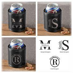 https://www.oldcornerstores.com/products/monogrammed-black-metal-can-cooler-groomsmen-gifts #Love cold #beer but don't like cold hands?  #MONOGRAMMED BLACK METAL CAN #COOLER  Available in 3 Designs!  #Gift