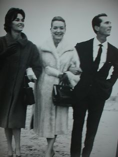 Dominguin and Lucia Bose, with Deborah Kerr