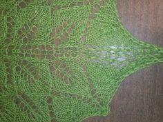 Shawl lace edge. Tejido por Violeta Navarro