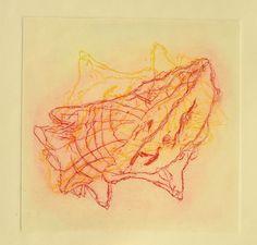 sans titre - Gravure sur zinc réalisée en 2012 par Aimée Yamamoto. Coquillage. Shell