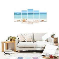 Hand Painted Canvas, Canvas Wall Art, Home Art, Home Kitchens, Seaside, Couch, Modern, Painting, Furniture