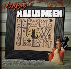 from the Just Cross Stitch 2013 Halloween Issue - Magazine; 123stitch.com