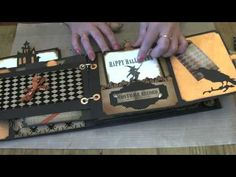Haunted Halloween photo album on line Workshop. Uses a lot of Tim Holtz products. Super cute!!!!