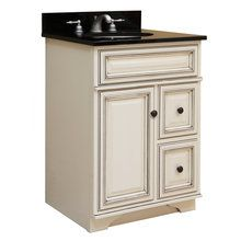 """View the Sunny Wood SL2421D 24"""" Maple Wood Vanity Cabinet from the Sanibel Collection at FaucetDirect.com."""