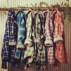 flannel shirts.