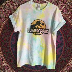 Tie Dye Jurassic Park TShirt Jurrasic World Shirt Custom Pastel Tie Dye
