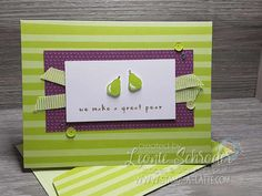Tutti Frutti Pear Card by Leonie Schroder Independent Stampin' Up! Demonstrator