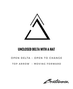 Unclosed Delta with a Hat – meaningful tattoos Simple Tattoo With Meaning, Symbol Tattoos With Meaning, Triangle Tattoo Meaning, Small Symbol Tattoos, Small Quote Tattoos, Small Quotes, Small Tattoos For Guys, Triangle Tattoos, Symbolic Tattoos