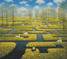 Spring Labyrinth. Surrealism in Dreamlike Oil Paintings. By Jacek Yerka.