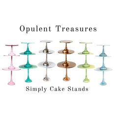 •SIMPLY CAKE STANDS• Save 15% with code •  OPULENT15 • ...Currently In Stock... •Pink •Tiffany Blue •Antique Silver •Antique Gold •Lime Green •Salt Water •Set of 3: small,medium & large •removable pedestal bases •simple modern metal design •signature colors . . . #cakestand #moderncakestand #silvercalestand #goldcakestand #pinkcakestand #tiffanyblue #bluecakestand #greencakestand #opulenttteasures #signaturecolors #holidayshopping #giftideasforher #giftideasforbakers #partydecor #desserttable #c Chandelier Cake Stand, Gold Cake Stand, Wedding Sweets, Wedding Cake Stands, Event Planning Design, Elephant Baby Showers, Tiffany Blue, Antique Silver, Dessert Tables