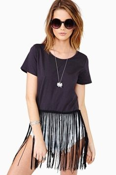 1c8e331318 On The Fringe Crop Tee how to make own fringe top