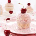 Cupcakes de cereza y coco